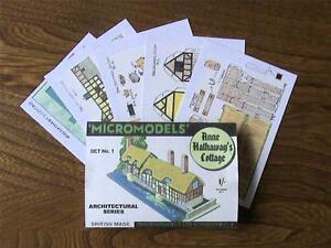 Micromodels ANNE HATHAWAY'S COTTAGE SET No.1 PROTOTYPE card model kit