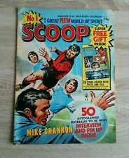 Scoop Comic No 1 January 21st 1978 Vintage DC Thomson Sporting Stories