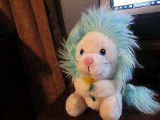 NWT Russ Berrie vintage Fantasia plush lion white blue hair (rare)