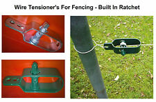 Fence Wire Tensioner  Ratchet Type - Galvanised Green or Natural