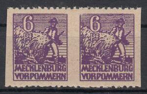 SBZ Mecklenburg-Vorpommern MiNr. 33 y d Us senkrecht ungezähnt postfrisch