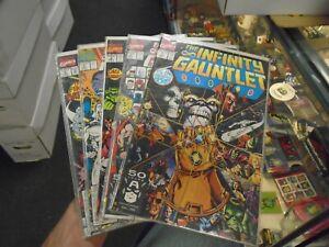Marvel INFINITY GAUNTLET SET #1,2,3,5 & 6 (1991) Jim Starlin George Perez VF+/NM