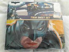 NEW! Batman The Dark Knight 3 Piece Twin Sheet Set, DC Comics Warner Bros.
