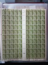 FRANCE  N° 284A  page de 100 TIMBRES TYPE PAIX 75 c olive  neuf.