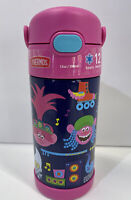 Thermos 12oz Insulated Water Bottle FUNtainer Trolls World Tour Straw Lid NEW