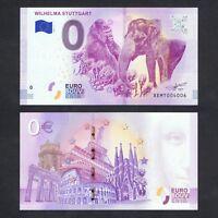 2018 GERMANY ZERO 0 EURO UNC > WILHELMA STUTTGART