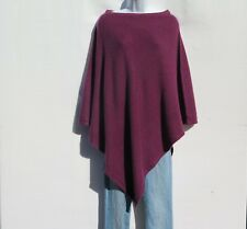"""100% Cashmere Poncho Knit """"Boat Neck"""" Himalayan A++ Yarn Hand Loomed Wine"""