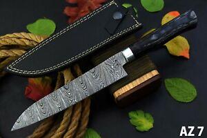 "Damascus Steel 13.0"" Inch Chef Knife-Kitchen Knife Handmade,Wooden Handle(AZ7-E)"