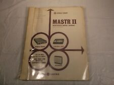 GE MASTR II MOBILE RADIO OWNER'S / OPERATOR'S INSTRUCTION MAINTENANCE MANUAL