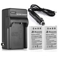 2X EN-EL5 ENEL5 Battery +Charger For Nikon Coolpix P500 P510 P520 P90 P100 P6000