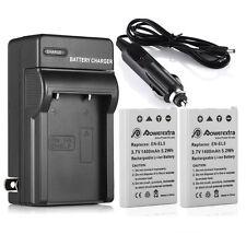 2X EN-EL5 1400mAh Battery + Charger For Nikon Coolpix ENEL5 P510 P530 P100 P6000