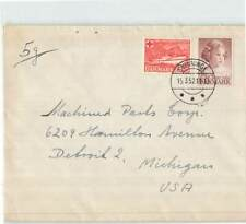DENMARK 1952 CHILD RED CROSS 2v ON COVER TO USA