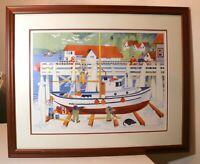 original 96 Limited Edition Rie Munoz signed numbered nautical season art print