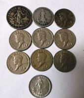 """1904-1967 Philipean""""s Coins - Lot 10 Coins"""