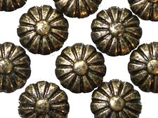 """1000 Daisy Floral Head Antique Brass Finish Decorative Upholstery Tacks 7/16"""""""