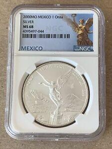 2000-Mo Mexico Silver Libertad 1oz Silver Coin NGC MS 68