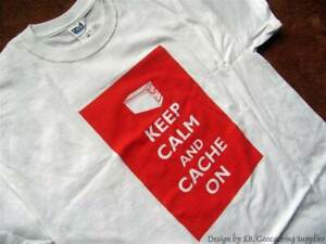 Keep Calm Themed Ammo Can Geocaching T-shirt