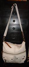 Designer FOSSIL Ivory Leather Large Tote Shoulder Bag Handbag Purse