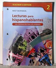 Holt Spanish 2  Teacher Edition Lecturas para hispanohablantes w/ 2 CDs