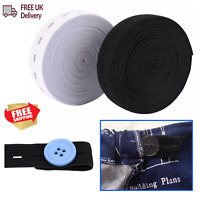 Flat Button Hole Elastic For Sewing Crafts Dressmaking Trousers Tailoring