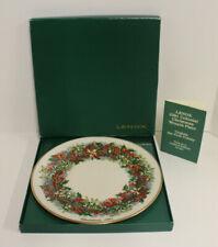 Lenox Colonial Christmas Wreath Collector Plate; 1981 Virginia 1st Colony