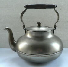 VINTAGE heavy kettle with a wooden handle, Tea Kettle, made in the USSR