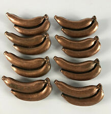 Lot 8 Vintage Ajax Bananas Copper Drawer Cabinet Pull Handle Mid Century USA