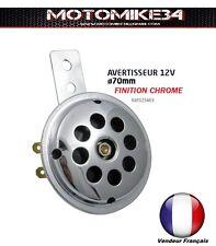 Mini horn alarm sound chrome moto 12v custom motorcycle harley chopper trike