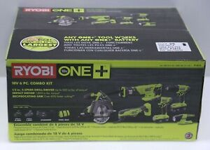 RYOBI 18-Volt ONE+ Lithium-Ion Cordless 6-Tool Combo Kit - Brand  NEW Sealed