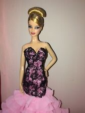 Dotw France Barbie (converted in model muse body) redressed in ooak gown
