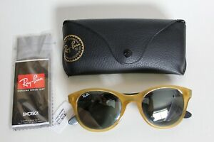 Ray Ban Sunglasses 4203 60436/40 Yellow Frame With Grey Mirror Lenses NWT