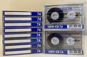 Maxell UDII CD Blank Cassettes NOS 74 Min x10