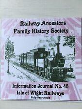Genealogy: Railway Ancestors Family History Society Journal 45 CD