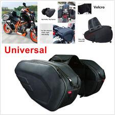 58L Universal Motocicleta Side Saddle Bag Pacote Bagagem Bolsas para capacete impermeável