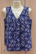 Ladies Blue Floral Sleeveless Blouse Top by Atmosphere, Size 6, BNWOT