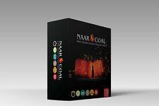 NaarCoal 100% Natural Coconut Hookah Charcoal Cube 1.75KG (3.85lb) 126 Cubes/Box