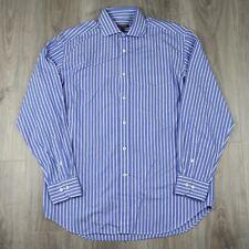 Vintage Mens Burberry London Long Sleeve Striped Evening Dress Shirt 42 Nova
