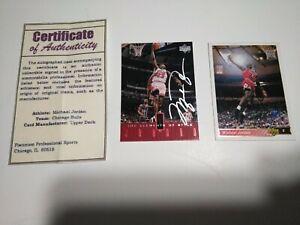 1998 Upper Deck Michael Jordan Signed Auto NBA RARE Card Chicago Bulls w/COA