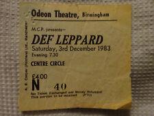 More details for def leppard concert ticket stub 3 december 1983 birmingham odeon pyromania tour