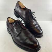 Allen Edmonds Mens Lexington Oxford Dress Shoes Burgundy Cap Toe Lace Up 11.5 E