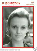 MIRANDA RICHARDSON ACTRICE ACTRESS FICHE CINEMA GREAT BRITAIN GRANDE-BRETAGNE90s