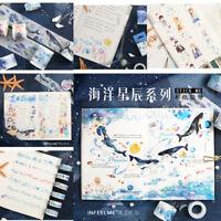 7M/5M Self DIY Ocean Star Washi Sticker Paper Masking  Adhesive Tape Craft Decor
