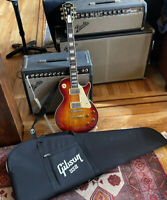 Les Paul 1959/59 Reissue Hohner LP With Gibson Gig Bag Vintage Flame top Pro AAA