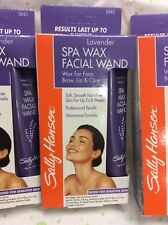 3 X SALLY HANSEN LAVENDER SPA WAX FACIAL WAND COMPLETE KIT LASTS UP TO 8 WEEK