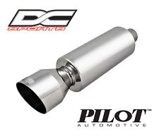 """DC Sports Universal Stainless Steel Exhaust Muffler 2"""" Inlet 4.25"""" Outlet"""
