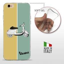 iPhone 6 6S TPU CASE COVER PROTETTIVA GEL TRASPARENTE VINTAGE Vespa Retro