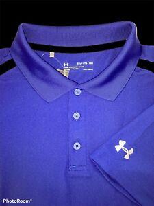 Under Armour UA Golf Blue Performance Polo Shirt Size 2XL - $55 NWT