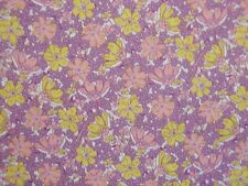 CLEARANCE 2 YARDS Vintage 30's Floral Lavender Paintbrush Quilting Cotton Fabric