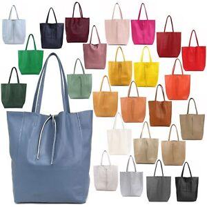 Handtasche Trage Schulter Tasche Shopper Retro Bag Groß Leder Vintage NEU Damen