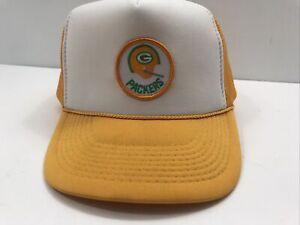 Vintage 1970's  Green Bay Packers Bart Starr AJD Snapback Trucker Hat NFL Helmet